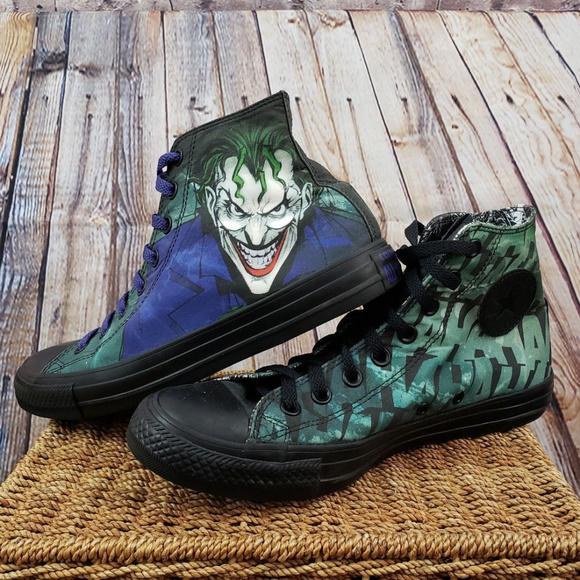 ef0a1277d893e0 RARE Converse DC comics The Joker high trainer